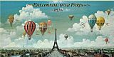 2011 Ballooning Over Paris painting