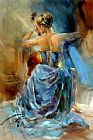 Anna Razumovskaya Blue Note 1 painting