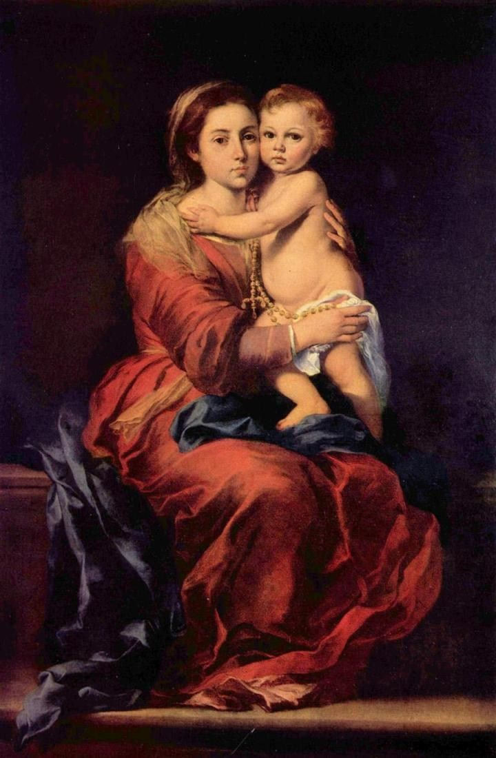 Bartolome Esteban Murillo Madonna with the Rosary