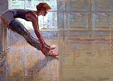 Brent Lynch Dancer Stretching painting