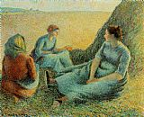 Camille Pissarro Haymakers Resting painting