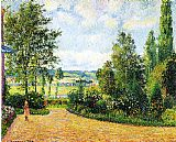 Camille Pissarro Jardin Mirbeau aux Damps painting