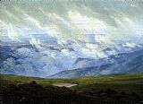 Caspar David Friedrich Drifting Clouds painting