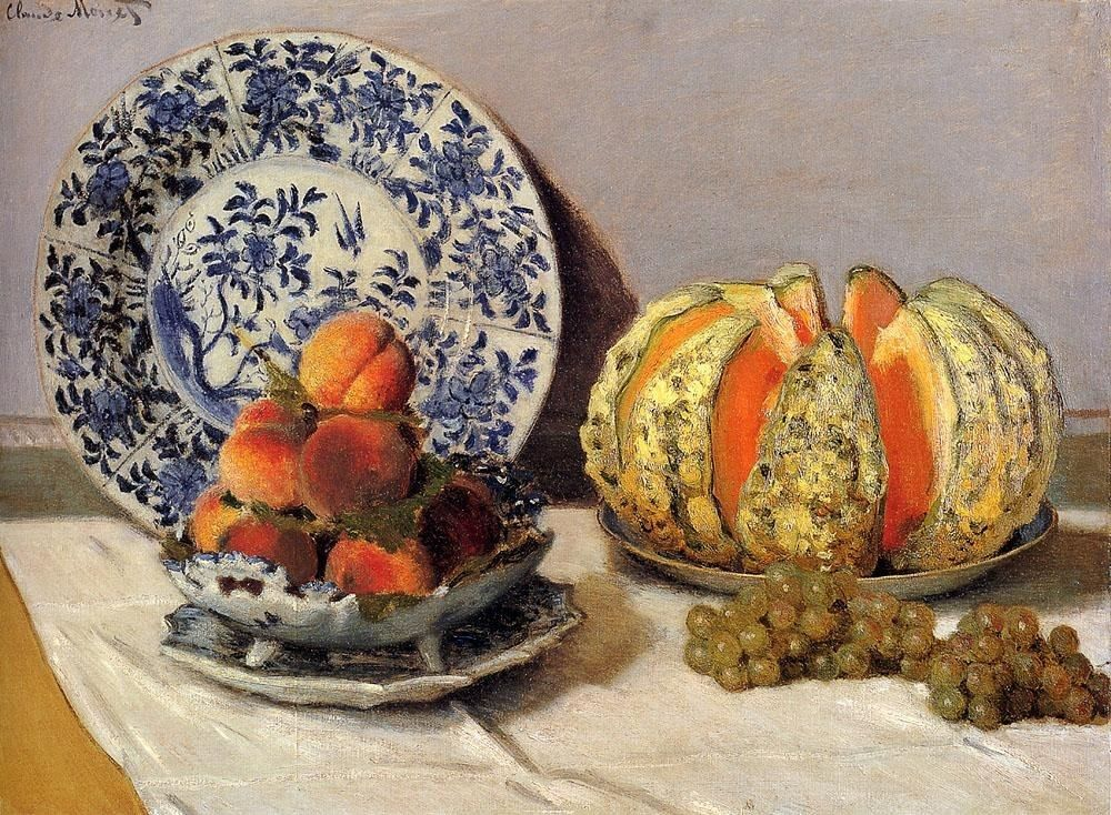 Claude Monet Still Life With Melon