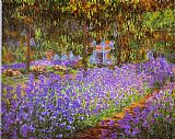 Claude Monet Irises in Monet's Garden painting