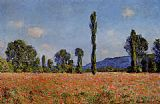 Claude Monet Poppy Field painting