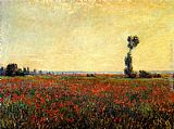 Claude Monet Poppy Landscape painting
