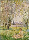 Claude Monet Woman Seated under the Willows painting