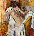 Edgar Degas Woman Drying Herself I painting