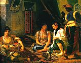 Eugene Delacroix Women of Algiers in their Apartment painting