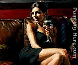 Fabian Perez Red on Red II painting