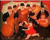 Fernando Botero Ball in Colombia 1980 painting