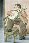 Fernando Botero Man Playing Guitar painting