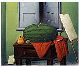 Fernando Botero Still Life With Watermelon painting