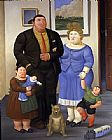 Fernando Botero Une Famille painting