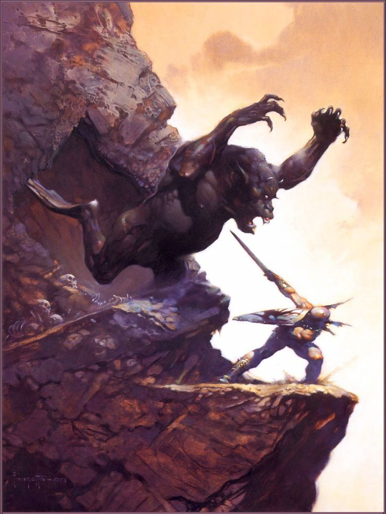 Frank Frazetta Cave Demon