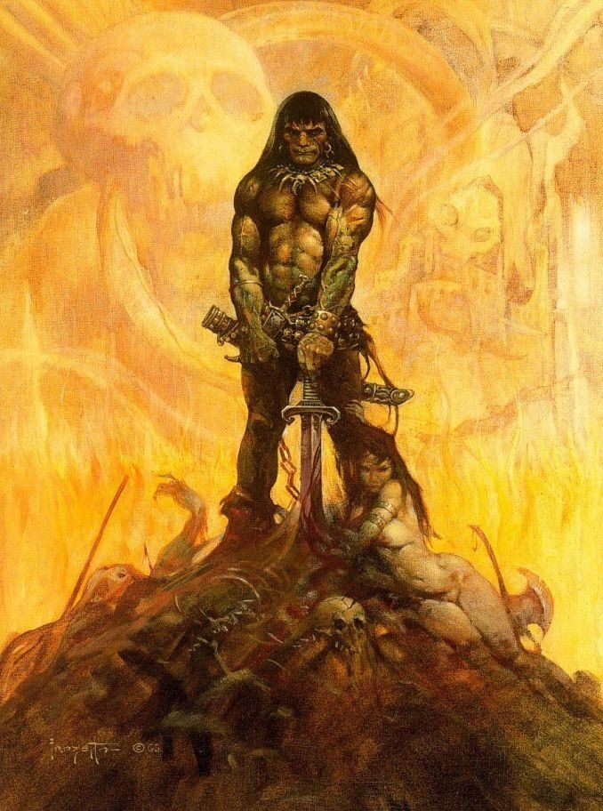 Image result for frazetta conan