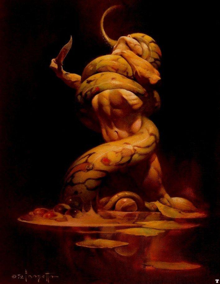 Frank Frazetta Sea Monster 50% off - ArtExpress.ws