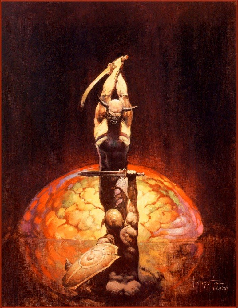 Frank Frazetta The Brain