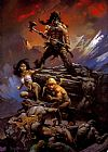 Frank Frazetta Fire and Ice Movie Poster painting