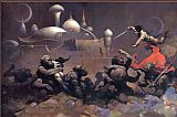 Frank Frazetta John Carter and the Savage Apes of Mars painting