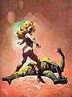 Frank Frazetta The Countess and the Greenman painting