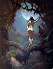 Frank Frazetta The Moon's Rapture painting