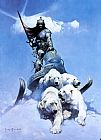 Frank Frazetta The Silver Warrior painting