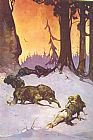 Frank Frazetta Wolves painting