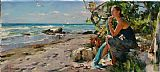 Garmash AT THE SEA SHORE painting