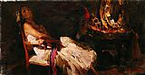 Garmash RESTING IN THE DARK painting