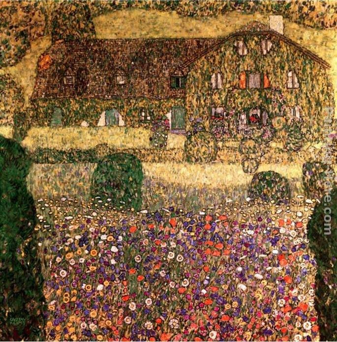 Gustav Klimt Country House by the Attersee