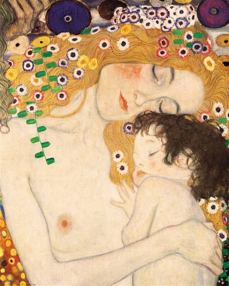 Gustav Klimt Mother and Child detail from The Three Ages of Woman