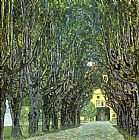 Gustav Klimt Avenue of Schloss Kammer Park painting