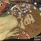 Gustav Klimt Sea Serpents III (detail) painting