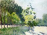 Gustave Caillebotte Lane Bordered by Trees painting
