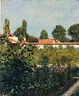 Gustave Caillebotte The Garden of Petit Gennevillers, the Pink Roofs painting