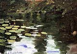 Gustave Caillebotte Yerres, on the Pond, Water Lilies painting