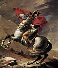 Jacques-Louis David Napoleon crossing the Alps painting