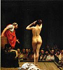 Jean-Leon Gerome Selling Slaves in Rome painting
