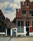 Johannes Vermeer The Little Street painting