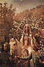 John Collier Guinevere's Maying painting
