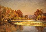 John Ottis Adams Sycamores on the Whitewater painting