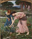 John William Waterhouse Gather ye rosebuds while ye may I painting