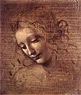 Leonardo da Vinci The Lady of the Dishevelled Hair painting