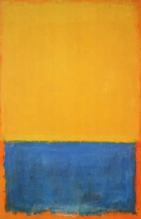 mark rothko yellow blue orange 1955 50 off. Black Bedroom Furniture Sets. Home Design Ideas