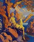 Maxfield Parrish Night is Fled painting