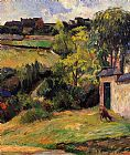 Paul Gauguin Rouen Suburb painting