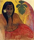 Paul Gauguin Tahitian Woman painting
