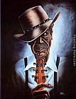 Steven Johnson Blues Legend painting
